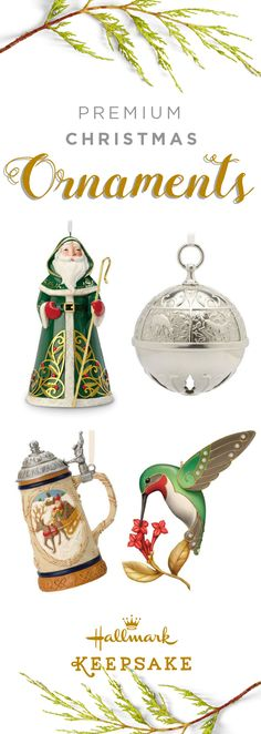 Show off your Christmas tree this season with beautiful, hand-crafted Hallmark Keepsake Premium Ornaments made from porcelain, metal, and glass. These timeless pieces are the perfect Christmas gift idea for mom, grandma, or any special person in your life! Shop online or at your nearest Hallmark Gold Crown store and start a new tradition with your family this year!