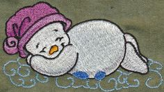 Threadsketches' set Winter Friends - Christmas embroidery designs, Big Black Friday Sale!, sleepy snowman
