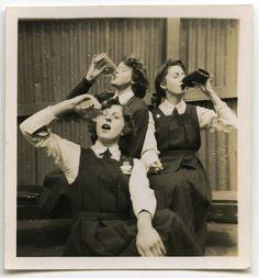 Vintage Australian schoolgirls