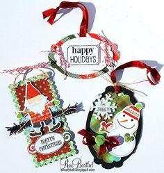 SRM Stickers & BasicGrey Christmas tags - Scrapbook.com