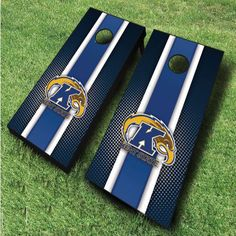 These officially licensed NCAA Kent State Golden Flashes cornhole boards feature a racing striped design and are great for displaying...