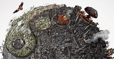 We Created Detailed Drawings To Show The Harm We've Done To Mother Earth | Bored Panda