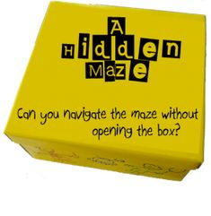 What a cool way to get kids really thinking.  Hide a maze inside a box and have them figure out how to navigate.  BRILLIANT!