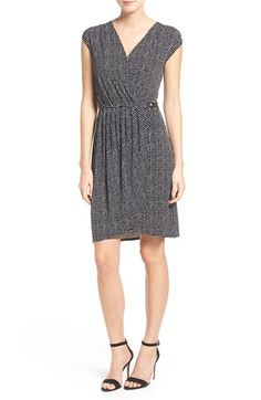 MICHAEL Michael Kors 'Nezla' Print Sleeveless Faux Wrap Dress (Regular & Petite) available at #Nordstrom