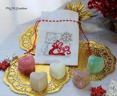Fragrant Satchel - Red Reindeer & Snowflake, AU$15.00