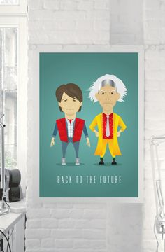 Back to the Future Poster Print Marty McFly & Doc by TheRetroInc, www.etsy.com/shop/TheRetroInc