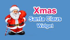 Udte Huee Santa Claus Widget add Kare Blog Website Me