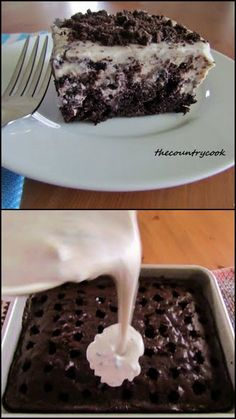 Oreo Pudding Poke Cake?! So easy even I can make it & it looks delicious!