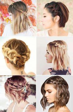 6 tranças para cabelo curto