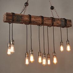 Farmhouse Style Dark Distressed Wood Beam Large Linear Island Pendant Light 10 E . - Farmhouse Style Dark Distressed Wood Beam Large Linear Island Pendant Light 10 Edison Bulbs With thi - Kitchen Island Lighting, Dining Lighting, Kitchen Lighting Fixtures, Farmhouse Lighting, Chandelier Lighting, Bar Lighting, Kitchen Islands, Farmhouse Chandelier, Industrial Light Fixtures