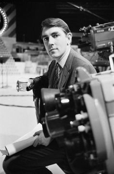 Peter Cook filming at the BBC in 1964 (Getty Images)