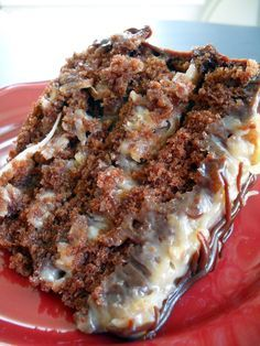 German Chocolate Cake ~ it's so moist,,rich and really, really delicious!..