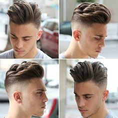 Best Mens Hairstyles For Oval Faces - High Fade with Long Textured Hair Combed Over on Top # coiff men Mens Hairstyles With Beard, Face Shape Hairstyles, Cool Hairstyles For Men, Hair And Beard Styles, Latest Hairstyles, Hairstyles Haircuts, Haircuts For Men, Curly Hair Styles, Short Haircuts