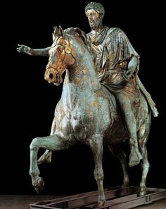 Equestrian Statue of Marcus Aurelius - Roman, c. 176 CE.   It amazes me the beauty of ancient art...made with only basic tools and bare hands.