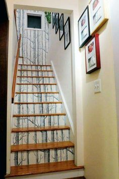 Stair wallpaper design