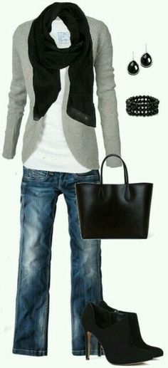 Love these jeans and cardigan