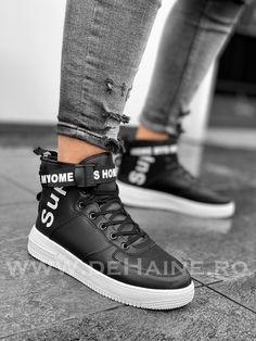 Ghete barbati imblanite negre B3171 High Tops, High Top Sneakers, Shoes, Fashion, Moda, Zapatos, Shoes Outlet, Fashion Styles, Shoe
