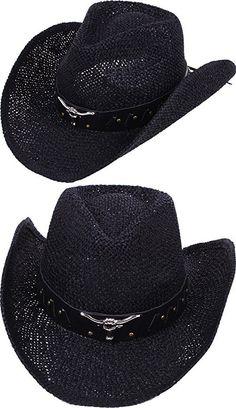 0e97ec53be3 Men   Women s Summer Classic Western Cowboy Straw Hat