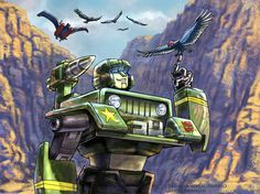 Transformers: Hound at the Grand Canyon by WolfWhiskers.deviantart.com on @deviantART