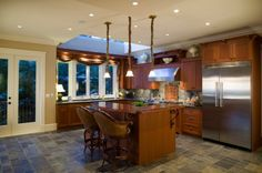 slate flooring kitchen floor