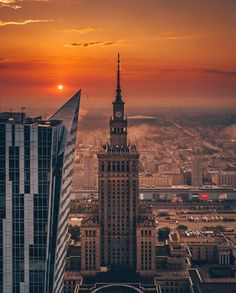 Sunrise in Warsaw, Poland. Warsaw City, Warsaw Poland, Poland Cities, Poland Travel, Beautiful Places To Travel, Krakow, Best Cities, Eastern Europe, Places To See