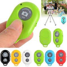 Selfie Wireless Bluetooth Remote Camera Shutter For Monopod Samsung Galaxy S5 S4 #Unbranded