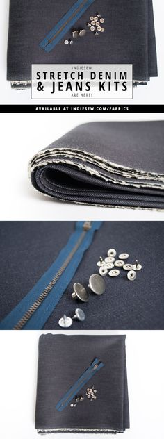 If you're ready to step into the world of handmade jeans, start with a fully loaded DIY jeans kit from Indiesew! | Indiesew.com