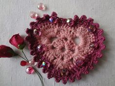 """I had a plan to make a tutorial for the """"How to read crochet charts"""" series and feature a heart pattern, just before Valentine's..."""