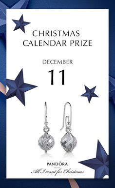 Missing a little bit of glam in your jewelry box? Stay tuned the 11th of December for these beauties #PANDORAchristmascontest #PANDORAearring | www.goldcasters.com