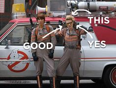 """Have you glanced at Kate McKinnon's character's costume yet? Her hair alone already has its own tumblr fandom. AND THOSE GOGGLES. 