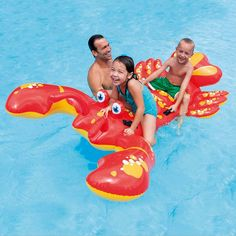 New 213CM*137CM Inflatable Swimming big Ride-on Lobster Pool Floats for 2 Kids Buoy Beach Toys Water Boat Kickboard Party Fun