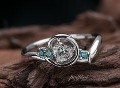 婚約指輪 ハートダイヤ