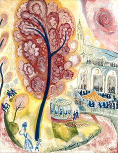 The spring tree, 1915 / Isaac Grunewald Spring Tree, Keys Art, Scandinavian Art, Jewish Art, Henri Matisse, Abstract Landscape, Love Art, Painting Inspiration, Illustrators