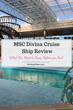 If you are considering booking a cruise on MSC Divina, check out this review covering embarkation, dining, activities onboard, specialty dining and more. There are pros and cons to MSC Divina so get the full cruise review here. #mscdivina #msccruise |plan a cruise | MSC cruises | MSC Divina |FindingJillian.com | cruise reviews | cruise planning American Cruise Lines, American Cruises, Cruise Port, Cruise Tips, Caribbean Cruise, Royal Caribbean, Cruise Ship Reviews, Msc Cruises, How To Book A Cruise