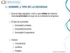 Nombre y tipo de sociedad de la presentación de www.creandowebconsulting.es