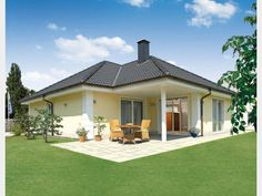 Hausansicht Kundenhaus Familie Bader Style At Home, Bungalows, Affordable House Plans, Gazebo, Shed, Outdoor Structures, How To Plan, Luxury, House Styles