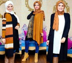 cognac hijab fall outfits