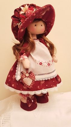 Rag dolls Handmade doll Fabric doll Tilda doll Rag doll Cloth Doll Red hair Made in the UK Ooak doll GRACE inches tall Dream Doll, Fabric Toys, Waldorf Dolls, Soft Dolls, Cute Dolls, Beautiful Dolls, Baby Dolls, Doll Clothes, Christmas Ornaments