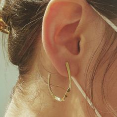 Recycling Center, Minimalist Earrings, Green And Grey, Take That, Hoop Earrings, Brass, Jewels, Etsy, Minimalist Packing
