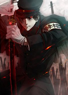 Dark Hetalia - Japan I saw somewhere that he is called Nihan
