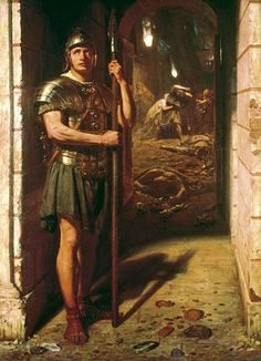 Faithful Unto Death,Sir Edward John Poynter, 1865