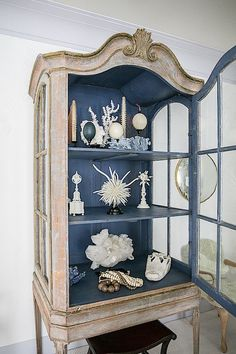 Savvy Southern Style: China Cabinets Art Not Just for Dining Rooms