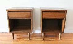 Pair of mid century modern side end tables