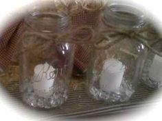 Set Of 12 Shabby Chic Rustic Mason Jar Wedding Reception Table Centerpieces, 20% off | Recycled Bride