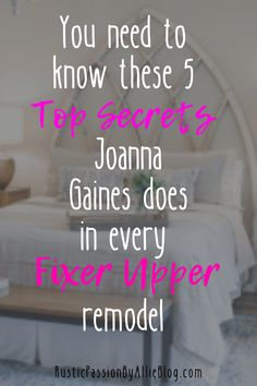 You need to know these 5 top secrets Joanna Gaines does in every fixer upper remodel. Joanna Gaines Design, Joanna Gaines Style, Dream Master Bedroom, Master Bedrooms, Bedroom Wall, Bedroom Furniture, Bedroom Decor, Wall Decor, Fixer Upper Bedrooms
