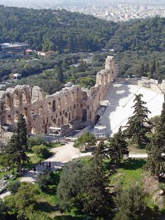 Herodion Atticus theater, under the Acropolis. Athens, Greece