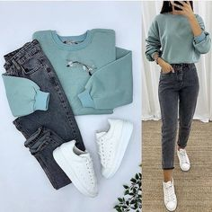 Online shopping for Learn More About Prime Wardrobe from a great selection at Clothing, Shoes & Jewelry Store. Casual Hijab Outfit, Casual Work Outfits, Stylish Outfits, Latest Outfits, Winter Fashion Outfits, Fashion Fashion, Cute Comfy Outfits, Cool Outfits, Looks Camisa Jeans