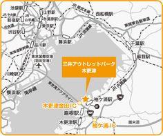 三井アウトレットパーク木更津地図