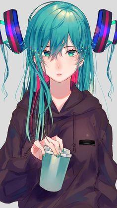 Vocaloid Hatsune Miku is make me to flew Manga Anime, Art Anime, Manga Girl, Anime Girls, Hatsune Miku Vocaloid, Kaito, Miku Chan, Character Inspiration, Character Art