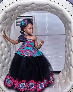 Spiffy Fashion Beautiful and Trendy Ankara Styles for kids - Baby African Clothes, African Dresses For Kids, African Print Dresses, African Children, African Prints, Kids Prom Dresses, Kids Dress Wear, African Fashion Ankara, Latest African Fashion Dresses